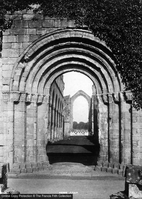 Photo of Fountains Abbey, West Door 1895