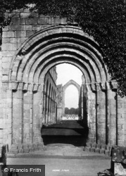 Fountains Abbey, West Door 1895