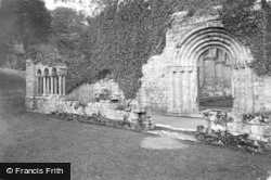 Fountains Abbey, West Door And Galilee Chapel 1914