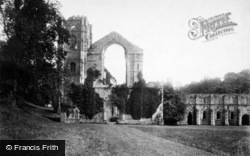 Fountains Abbey, West Front c.1885