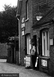 Four Elms, A Man At The Village Shop c.1955