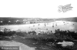 Fowey, From Above Polruan 1891