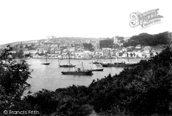 Fowey, From Pont River 1901