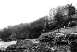 Fowey, Hotel From The Rocks 1891