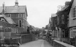Fowey, School Road And Girls' School 1913