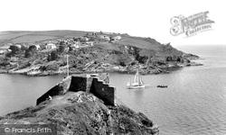 Fowey, St Catherine's Castle c.1955