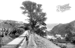 Fowey, St Catherine's Parade And Ready Money Cove 1908