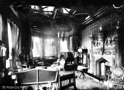 Fowey, The Drawing Room Of Place House 1888