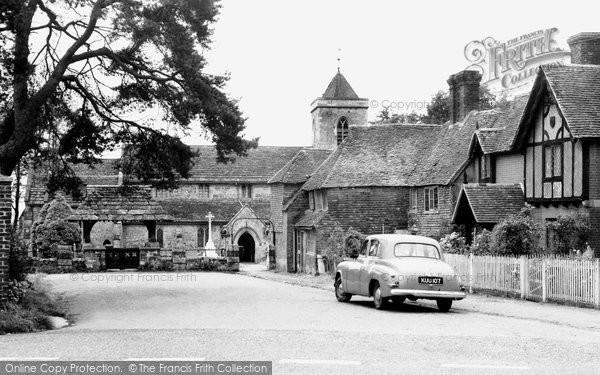 Framfield, Church Approach c1955