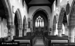 Framfield, St Thomas à Becket Church Interior c.1955