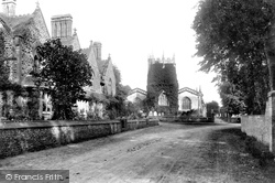 Almshouses And St Mary's Church 1906, Frampton