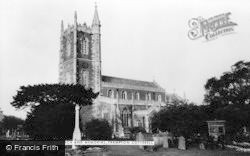 St Peter's Church And Memorial c.1960, Frampton Cotterell
