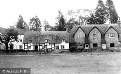 Frampton On Severn, Thatched Cottages c.1955