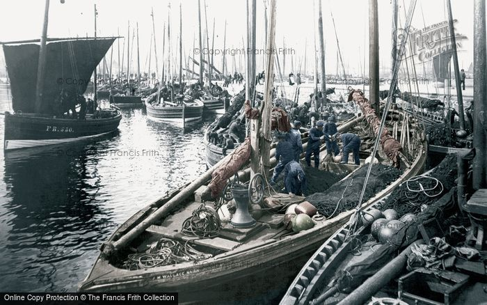 Photo of Fraserburgh, Herring Boats c.1900