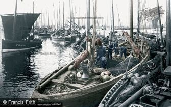 Fraserburgh, Herring Boats c1900