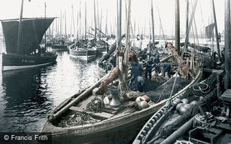 Fraserburgh, Herring Boats c1900