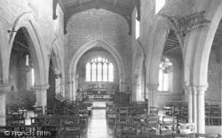 Freeby, St Mary's Church Interior c.1955