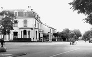 Freshfield, the Grapes Hotel and Ryeground Lane c1965
