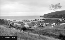 Freshwater East, Caravan Club And Beach 1963