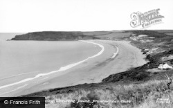 Freshwater East, The Bay And Trewent Point c.1950