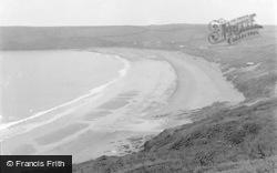Freshwater East, The Beach 1949
