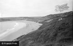 Freshwater East, The Beach 1959