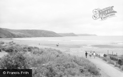 Freshwater East, The Three Points And Beach 1963