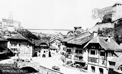 Lower Tower c.1872, Fribourg