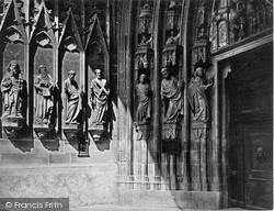 Fribourg, The Cathedral, Sculptures On Porch c.1872