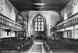 Frimley, Church Interior 1909