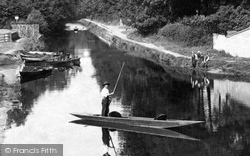 Frimley Green, Punting On The Canal  1909