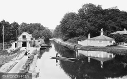 Frimley Green, The Basingstoke Canal And New Boathouse 1909
