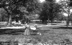 Frimley, Pram In The Grove 1906