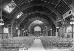 Frimley, St Paul's Church, Interior 1909