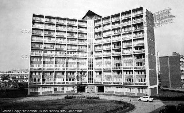 Photo of Fulham, Clem Attlee Court c1965