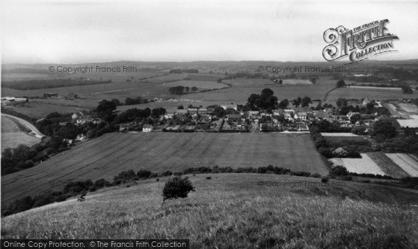Photo of Fulking, From Dyke Hills c.1960