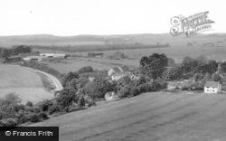 Fulking, From Dyke Hills c.1965