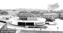 The Library And Swimming Pool c.1965, Fullwell Cross