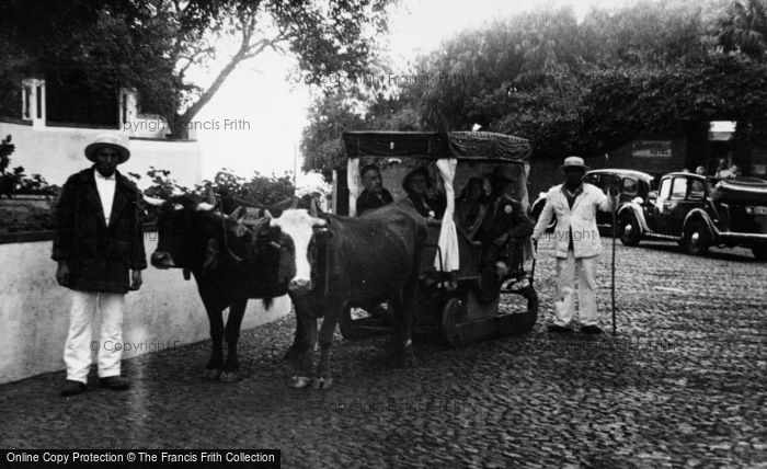 Photo of Funchal, An Ox Cart c.1955