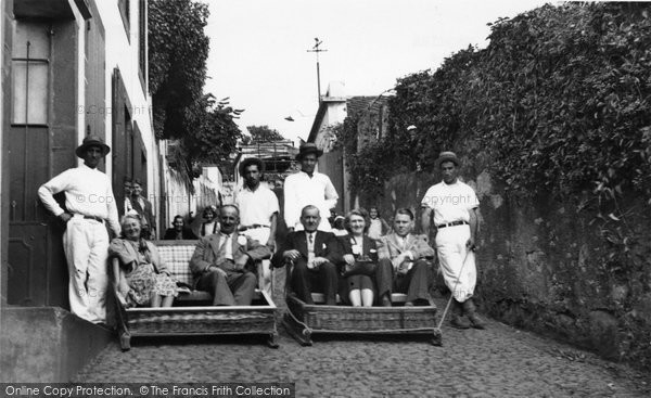 Photo of Funchal, Carros Do Monte (Wine House Stop) c.1955