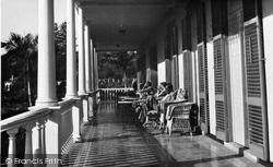 Funchal, New Avenue Hotel , The Veranda c.1955
