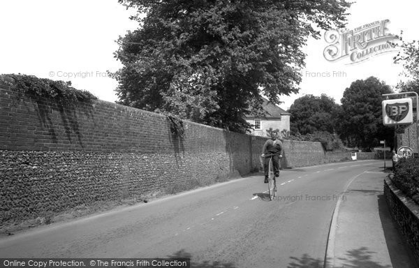 Photo of Funtington, The Village, Man Riding A Penny Farthing 1965