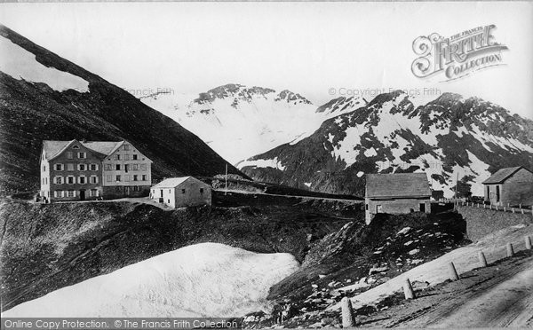 Photo of Furka, The Hotel And Muttenhorn c.1875