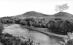 The Eildon Hills And River Tweed c.1930, Galashiels