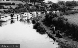 Galgate, Fishing Near The Boatyard c.1965