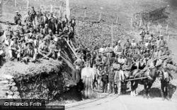 Ganllwyd, Miners At Gwynfyndd Gold Mine c.1890