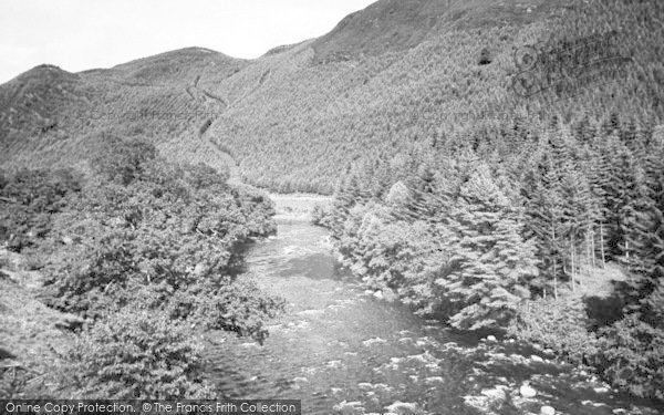 Photo of Ganllwyd, The River c.1955