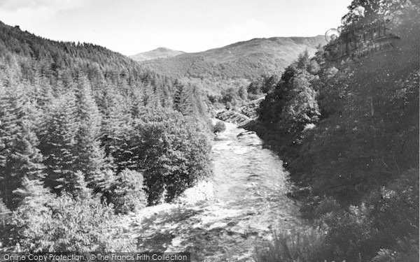 Photo of Ganllwyd, The River c.1955
