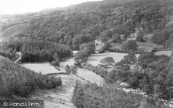 Ganllwyd, The Valley And Tyn-Y-Groes Hotel c.1955
