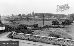 Garforth, St Mary's Church And New Estate c.1955
